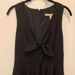 Anthropologie Hutch black high waisted Aline dress